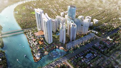 Phối cảnh tổng quan dự án tại địa chỉ 116A Nguyễn Hữu Thọ, Phước Kiển, Nhà Bè, TP HCM.