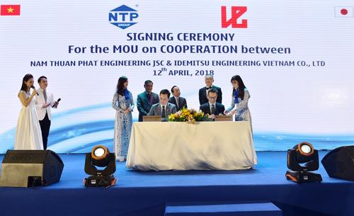 Buổi lễ ký kết hợp tác giữa NTP và các đối tác.