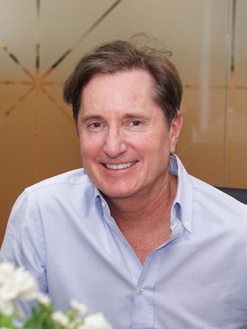 Ông Jud Laird - đại diện chủ dự án Lake Point. Ảnh: Tuấn Nhu.