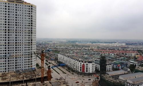 Một dự án khu đô thị gồm cả chung cư và nhà thấp tầng tại Hà Nội. Ảnh: Nguyễn Hà