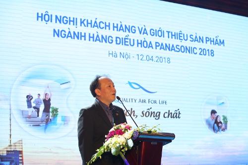 Ông Masaaki Kobayashi - Tổng giám đốc công ty Panasonic Việt Nam phát biểu khai mạc.