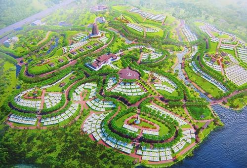 Phối cảnh dự án Công viên vườn Địa Đàng. Ảnh: Võ Thạnh