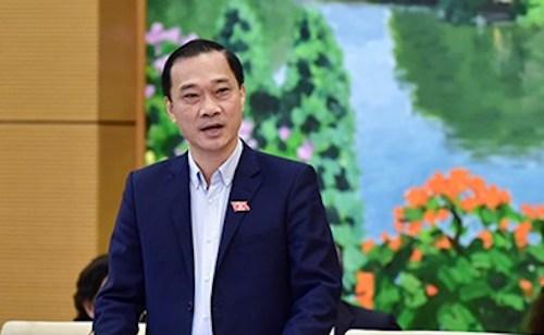 Chủ nhiệm Uỷ ban Kinh tế Vũ Hồng Thanh. Ảnh: QH