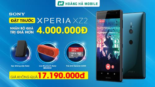 Hoàng Hà Mobile giảm 2,8 triệu đồng khi đặt trước Sony Xperia XZ2 - 1