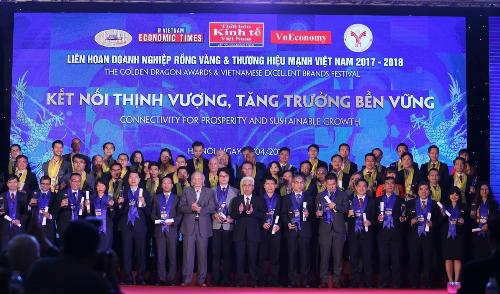Lễ trao giải thưởng Rồng Vàng tổ chức ngày 14/4 vinh doanh những doanh nghiệp FDI có hoạt động nổi bật tại Việt Nam.