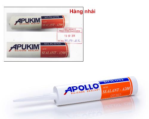 Apollo cảnh báo keo Silicone kém chất lượng - 1