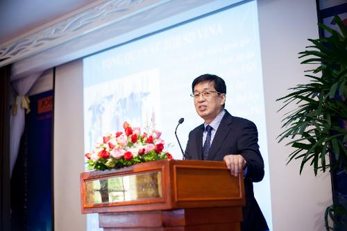 Đại diện tập đoàn EGS chia sẻ về định hướng phát triển của công ty trong thời gian tới.