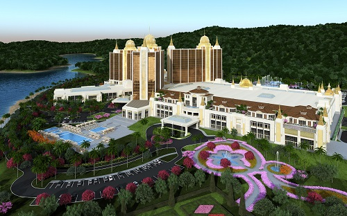Phối cảnh khu phức hợp nghỉ dưỡng giải trí Vân Đồn, Quảng Ninh.