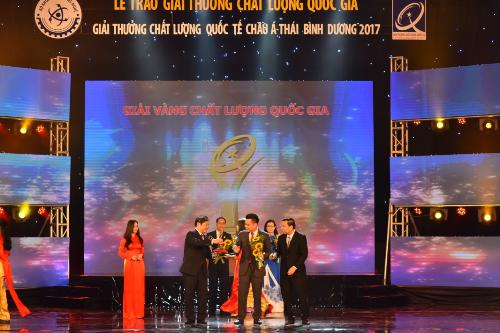 Tân Á Đại Thành nhận Giải vàng giải thưởng Chất lượng Quốc gia (bài xin Edit)