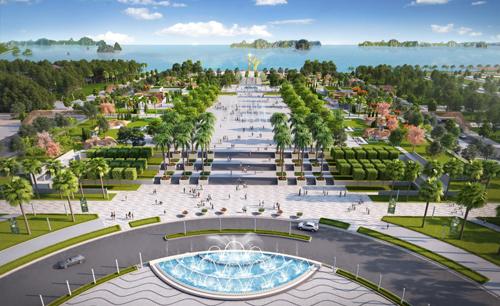 Dự án Shophouse Sun Plaza Grand World có hướng nhìn thẳng ra vịnh Hạ Long.