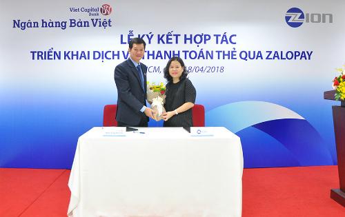 Ngân hàng Bản Việt ký kết cùng Công ty Cổ phần Zion.
