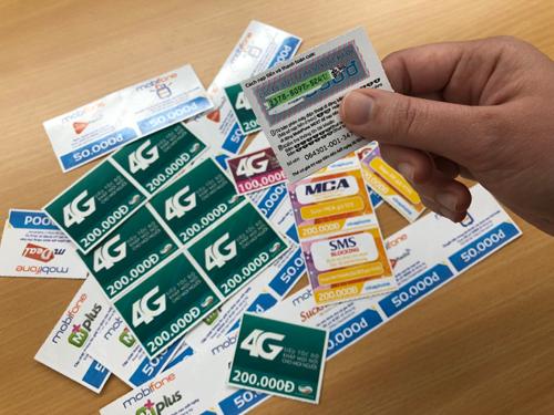 97% lượng thanh toán trong đường dây cờ bạc nghìn tỷ là từ thẻ cào điện thoại.