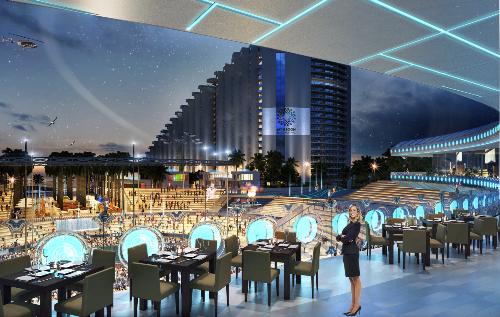 Từ nhà hànghay căn hộ... du khách đều có thể tận hưởng không khí sôi động của khán đài The Arena.