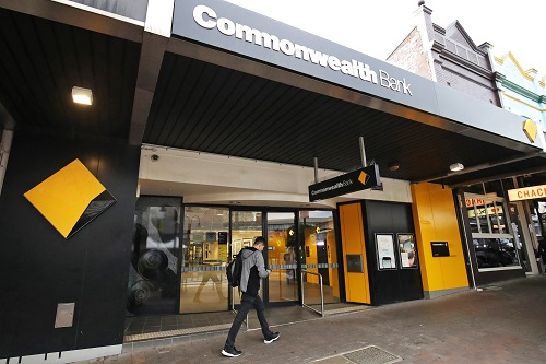Ngân hàng Commonwealth Bank Australia tại thủ đô Sydney. Ảnh: Bloomberg.