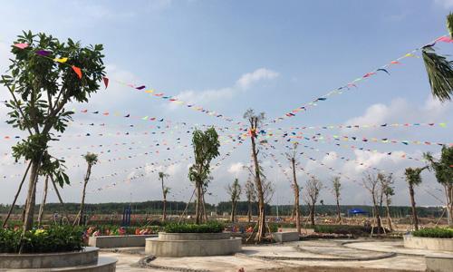 Một dự án sẵn sàng mở bán tại Nhơn Trạch (Đồng Nai) trong quý II/2018. Ảnh: Hà Thanh
