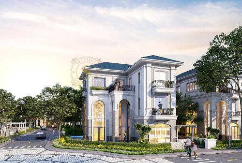 Không gian sống sang trọng của khu biệt thự compound cao cấp Sol Villas.