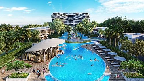 Điểm nhấn ấn tượng tạo nên đẳng cấp của BWP Sonasea Phu Quoc là hệ thống bể bơi liên hoàn, trung tâm karaoke hiện đại, khu chăm sóc sức khoẻ và sky bar.