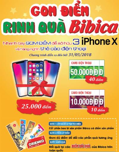 khách hàng nhanh tay tích điểm sẽ có cơ hội sở hữu một trong ba chiếc điện thoại iPhone X.