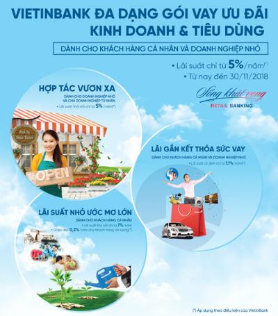 Các gói ưu đãi lớn của VietinBank.