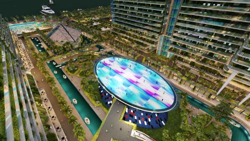 Integrated Resort Sunshine Marina Nha Trang Bay gây ấn tượng với phối cảnh sân khấu Lighting Show đặt tại ví trí trung tâm dự án.