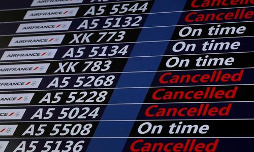 Một số chuyến bay của Air France bị hoãn vì đình công. Ảnh: RFI