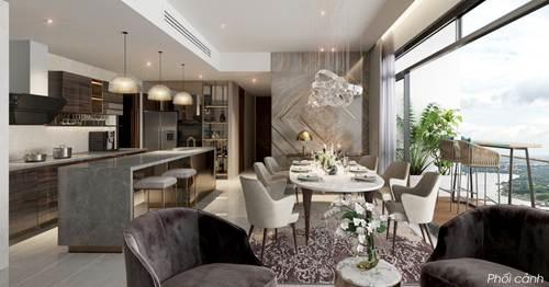 Hình phối cảnh  Thiết kế với ban công cực thông thoáng của căn hộ 4 phòng ngủ tại dự án  Q2 THAO DIEN.