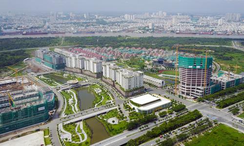 Những block chung cư trong dự án Sala thuộc khu đô thị Thủ Thiêm. Ảnh: Như Quỳnh