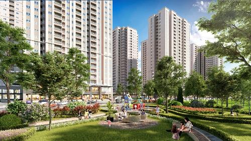Mipec City View gồm 7 tòa căn hộ với tiện ích nội khu.
