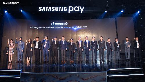 Sự kiện công bố mở rộng hợp tác phát triển Samsung Pay tại Việt Nam.