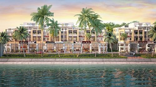 Dự án có tổng diện tích xây dựng 31.968m2 gồm 293 căn nhà phố.