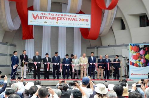 Lễ hội Việt Nam tại Nhật bản lần thứ 11 khai mạc tại công viên Yo-Yoyogi, Tokyo, Nhật Bản.