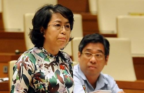 Bà Tô Thị Bích Châu - đại biểu Quốc hội TP HCM. Ảnh: Quốc hội