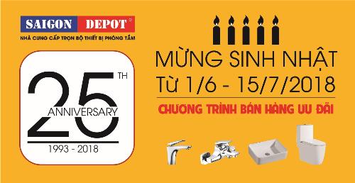 Saigon Depot ưu đãi lớn mừng sinh nhật