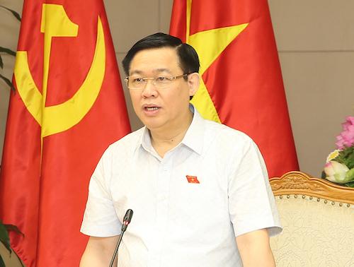Phó thủ tướng Vương Đình Huệ, Trưởng ban chỉ đạo điều hành giá. Ảnh: Chung Vũ