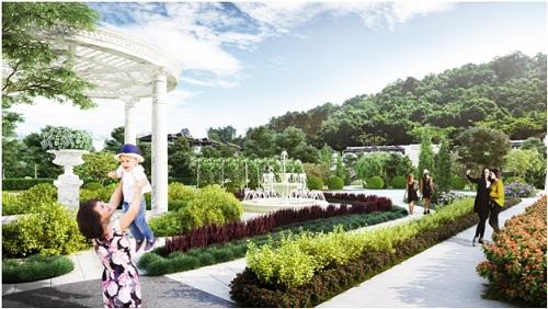 Phối cảnh tổng thể dự án Royal Streamy Villas.