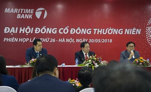 Phiên họp thường niên năm 2018 của Maritime Bank diễn ra trong không khí căng thẳng.