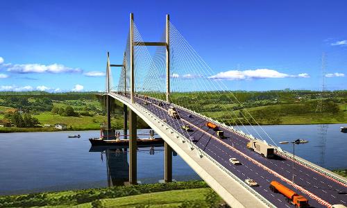Phối cảnh dự án cầu Cát Lái nối quận 2, TP HCM và Nhơn Trạch, Đồng Nai.