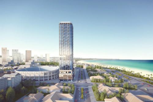 Phối cảnh công trình khách sạn - căn hộ nghỉ dưỡng Ocean Gate Nha Trang tại số 8, Hoàng Hoa Thám, TP Nha Trang. Thông tin chi tiết xem tại website hoặc gọi 0128.606.8888 - 0986.643.853.