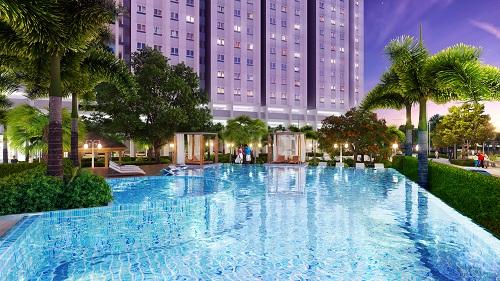 Hồ bơi hiện đại trong khu căn hộ Marina Riverside. Thông tin chi tiết liên hệ hotline: 0934 36 27 27; website:http://marinariverside.vn/