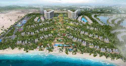 Khu nghỉ dưỡng Alma được phát triển bởi Alma Paradise Bay Resort JSC, xây dựng bởi Hòa Bình & Central, công ty ONG&ONG thiết kế.