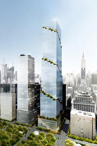Phối cảnh dự án văn phòng The Spiral (New York, Mỹ).