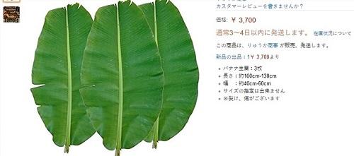 Hình ảnh tàu lá chuối được rao bán với giá 470.000 đồng trên trang Amazon Nhật là thông tin khiến nhiều người bất ngờ.