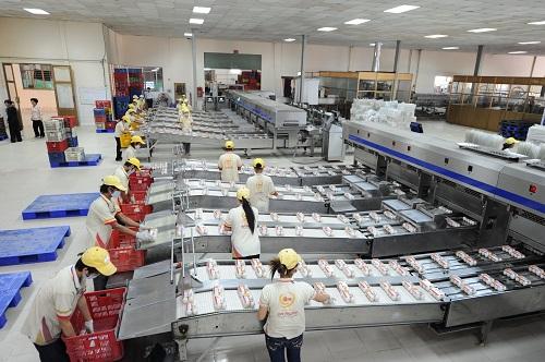 Toàn cảnh nhà máy xử lý trứng công nghệ cao của Ba Huân đi vào hoạt động từ năm ngoái ở Hà Nội.