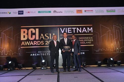 SonKim Land đạt giải thiết kế nội thất BCI Interior Design Awards 2018.