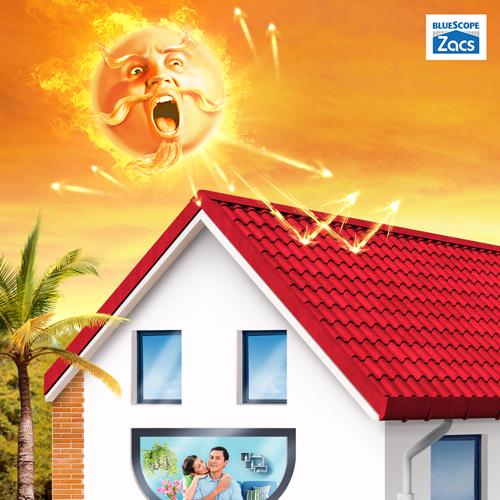 Tôn sử dụng công nghệ Eco-Cool giúp giảm nhiệt là một trong những cách làm mát cho ngôi nhà.
