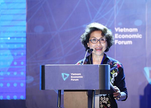 Bà Nguyễn Thị Hồng Minh, nguyên Thứ trưởng Bộ Thủy sản, Chủ tịch Công ty VietTrace Verified.