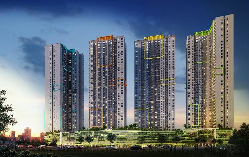 Dự án bao gồm 4 tòa nhà Xuân - Hạ - Thu - Đông.