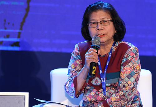 Bà Vũ Kim Hạnh, Chủ tịch Hiệp hội Doanh nghiệp hàng Việt Nam Chất lượng cao.