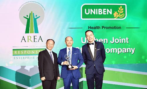 Uniben lần đầu tiên đạt giải Doanh nghiệp trách nhiệm châu Á