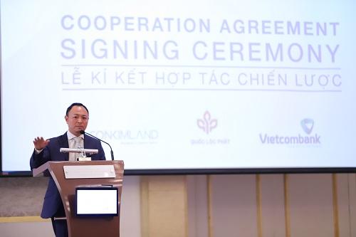 Ông Nguyễn Hoàng Tuấn -Chủ tịch HĐQT SonKim Land phát biểu tại sự kiện.